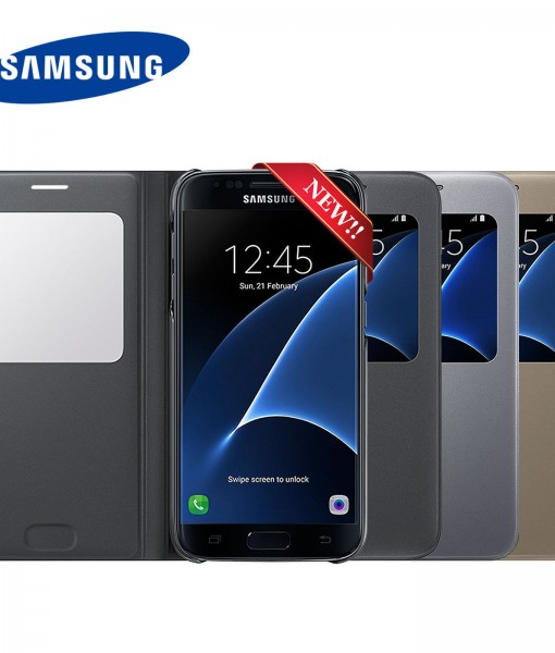 New-Authentic-Genuine-Official-SAMSUNG-GALAXY-S7-S-View-Case-Cover-EF-CG930-272172318701