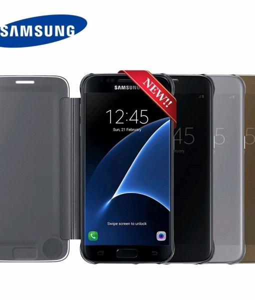 New-Authentic-Genuine-Official-SAMSUNG-GALAXY-S7-Clear-View-Case-Cover-EF-ZG930-272185649532