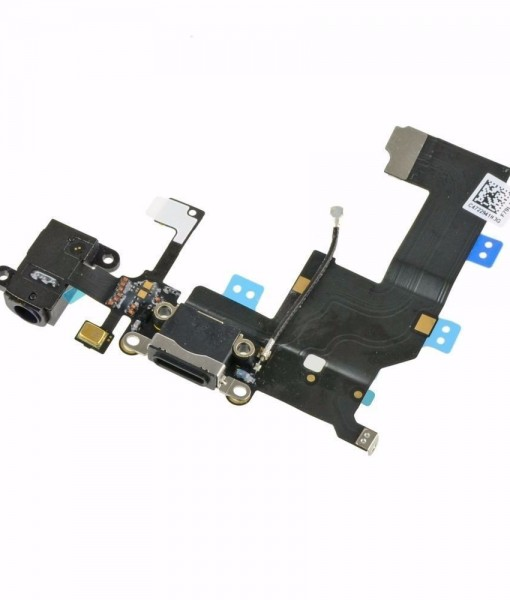 New-Original-for-iPhone-5-5G-Black-Dock-Connector-and-Headphone-Jack-Flex-272191082949
